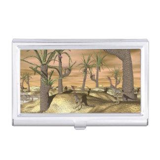 Compsognathus dinosaurs - 3D render Business Card Holder