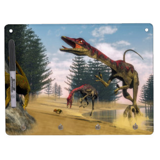 Compsognathus dinosaurs - 3D render Dry Erase Board With Keychain Holder