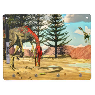 Compsognathus dinosaurs - 3D render Dry Erase Whiteboard