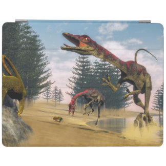 Compsognathus dinosaurs - 3D render iPad Cover