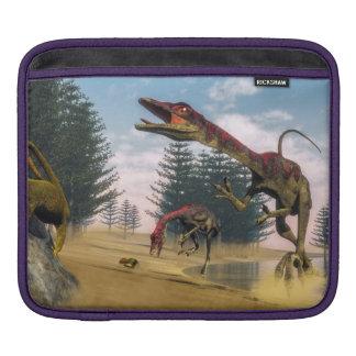 Compsognathus dinosaurs - 3D render iPad Sleeve