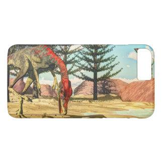 Compsognathus dinosaurs - 3D render iPhone 8 Plus/7 Plus Case