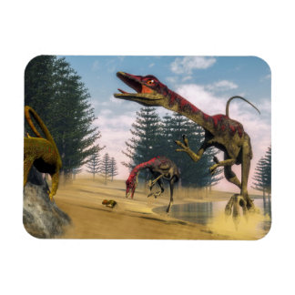 Compsognathus dinosaurs - 3D render Magnet