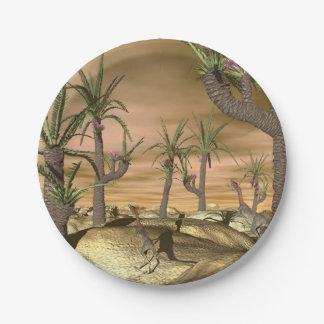 Compsognathus dinosaurs - 3D render Paper Plate