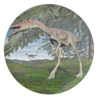Compsognathus dinosaurs - 3D render Party Plate