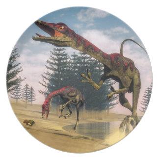 Compsognathus dinosaurs - 3D render Party Plates