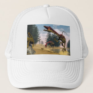 Compsognathus dinosaurs - 3D render Trucker Hat