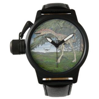 Compsognathus dinosaurs - 3D render Wrist Watch
