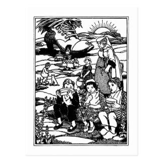 Comptine de Chambre de dame âgée et de chaussure Carte Postale