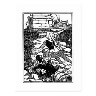 Comptine vintage de Jack et de Jill Carte Postale
