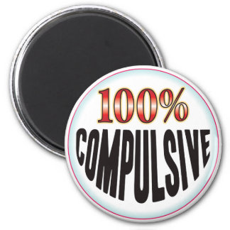Compulsive Tag Fridge Magnet