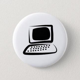 Computer 2 Inch Round Button