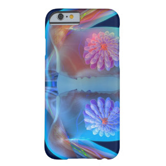 Computer artwork representing breast cancer, barely there iPhone 6 case