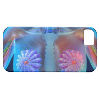 Computer artwork representing breast cancer, case for the iPhone 5