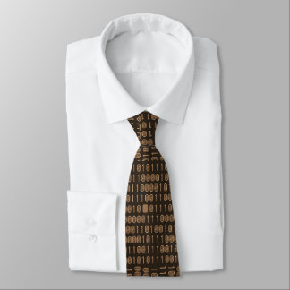 """Computer/Binary Code - Brown"" Tie"