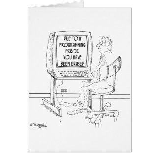 Computer Cartoon 1164 Card