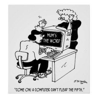 Computer Cartoon 3879 Poster
