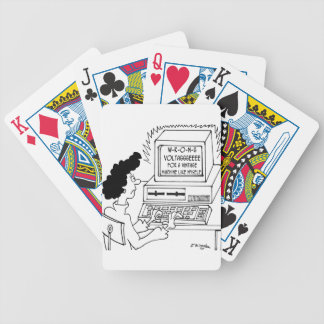 Computer Cartoon 4369 Bicycle Playing Cards