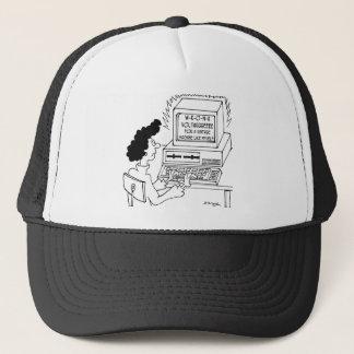 Computer Cartoon 4369 Trucker Hat