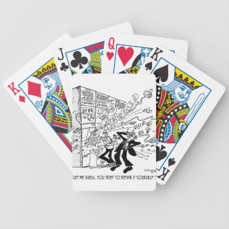 Computer Cartoon 4637 Bicycle Playing Cards