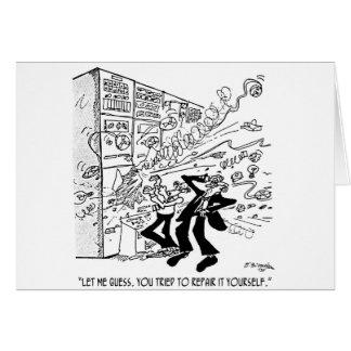 Computer Cartoon 4637 Card