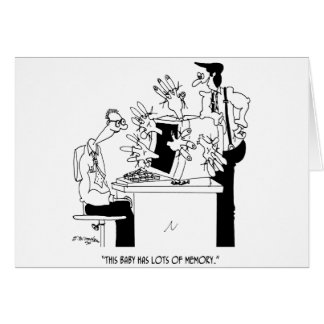 Computer Cartoon 6822 Card
