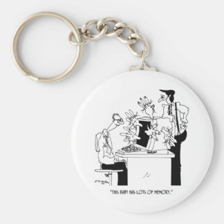 Computer Cartoon 6822 Keychain