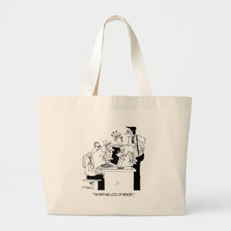 Computer Cartoon 6822 Large Tote Bag