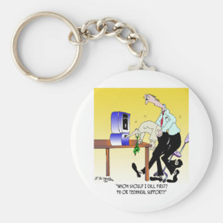 Computer Cartoon 6990 Keychain