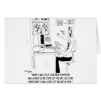 Computer Cartoon 7058 Card