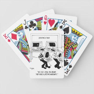 Computer Cartoon 7063 Bicycle Playing Cards