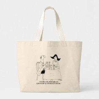Computer Cartoon 8030 Large Tote Bag