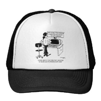 Computer Cartoon 8036 Trucker Hat