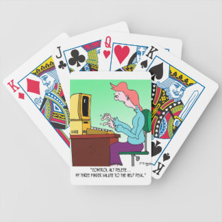 Computer Cartoon 8986 Bicycle Playing Cards