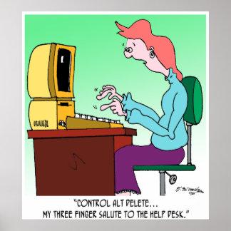 Computer Cartoon 8986 Poster