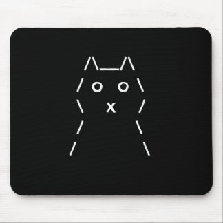 Computer Cat Mouse-pad (White on black) Mouse Pad