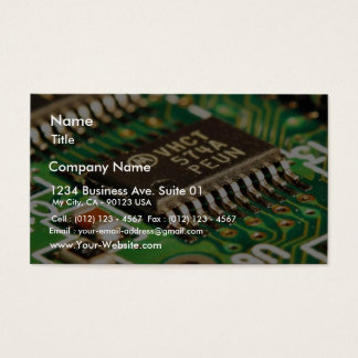 Computer Chips Circuits Boards Business Card