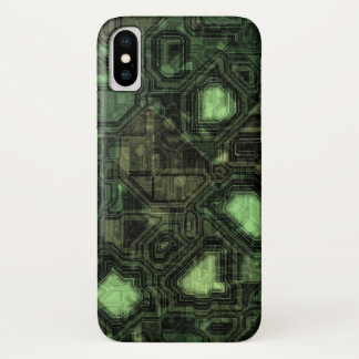 Computer circuit background iPhone x case
