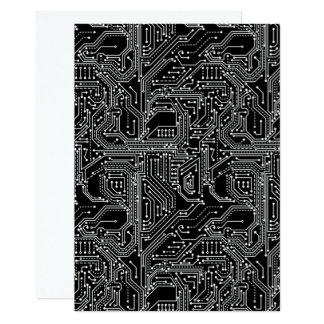 Computer Circuit Board Invitation Card