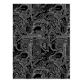 Computer Circuit Board Postcard