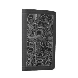 Computer Circuit Board TriFold Nylon Wallet