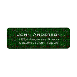 Computer Circuit Boards Masculine Address Labels