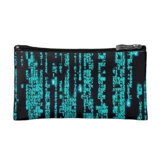 Computer Codes Cosmetic Bag