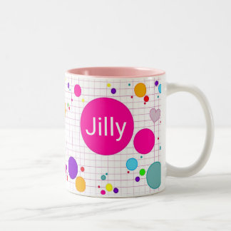 - Computer computerspel agario-stijl - little girl Two-Tone Coffee Mug