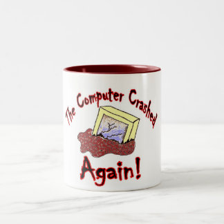 Computer Crash Two-Tone Coffee Mug