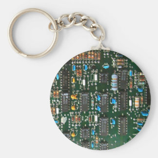 Computer Electronics Printed Circuit Board Keychain
