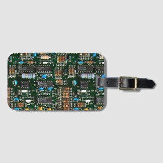 Computer Electronics Printed Circuit Board Luggage Tag