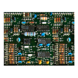 Computer Electronics Printed Circuit Board Postcard