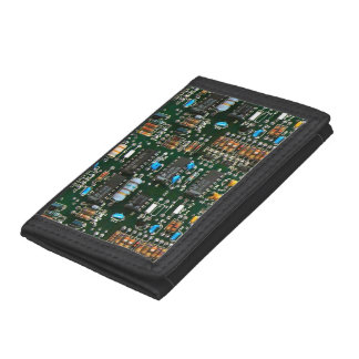 Computer Electronics Printed Circuit Board Trifold Wallet
