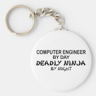 Computer Engineer Deadly Ninja Basic Round Button Keychain